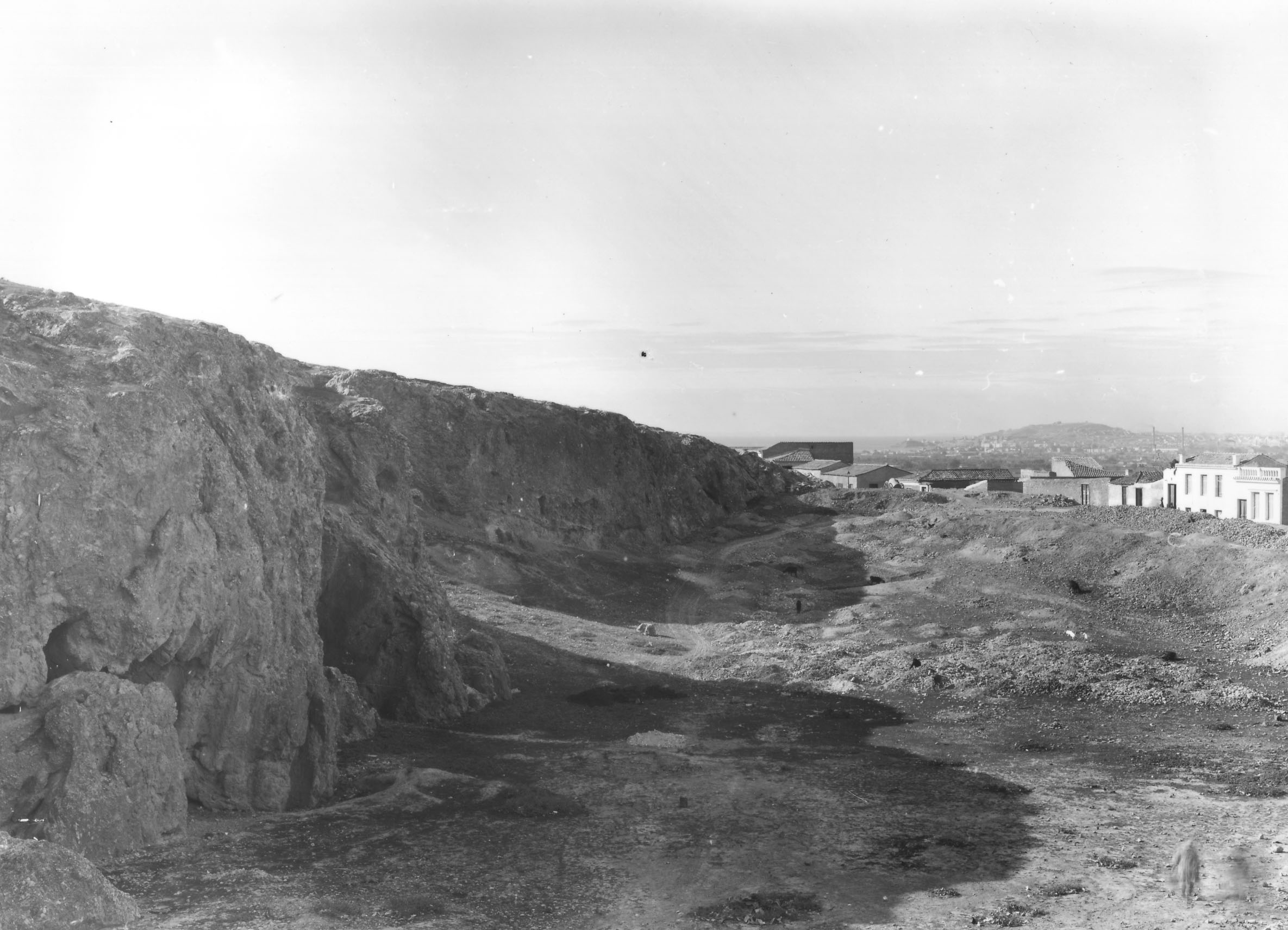 The barathron was an ancient quarry and place of executions; the most remote area of ancient Athens (Nicholson Museum, Professor W.J. Woodhouse Collection).
