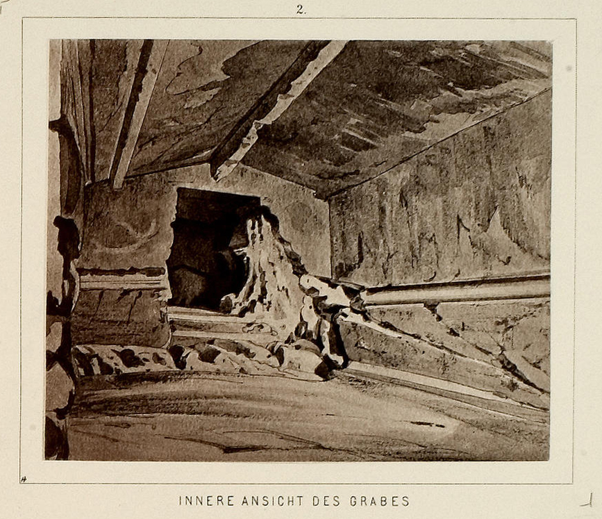 "The interior of the so-called ""Donta Cave"" on the Hill of Koile (Dexameni) (Universität Heidelberg)."