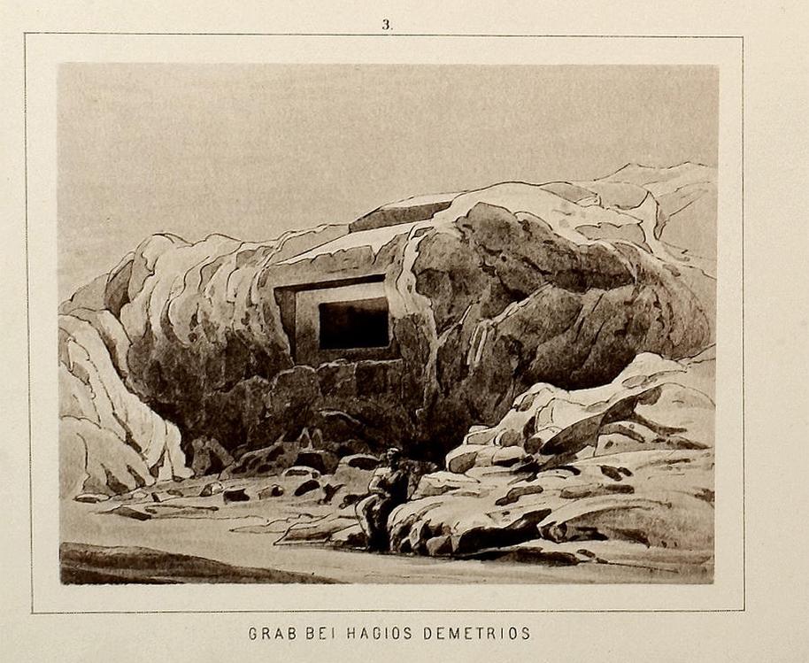 Σύμφωνα με τον Ηρόδοτο «ο Κίμων είχε ταφεί έξω από το άστυ πέρα από την οδό που ονομάζεται δια Κοίλης» (6.103.3)· εξ ου και τα λεγόμενα «Κιμώνεια Μνήματα» (Universität Heidelberg).